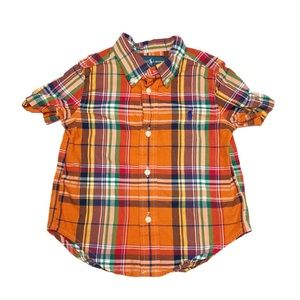 Ralph Lauren Short Sleeve Plaid Button Up Shirt